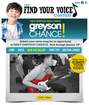 greyson chance contest