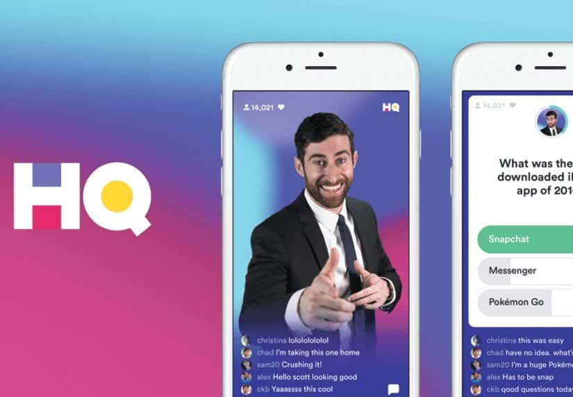 HQ Trivia App on a phone's screen