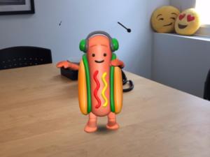 Snapchat Dancing Hotdog