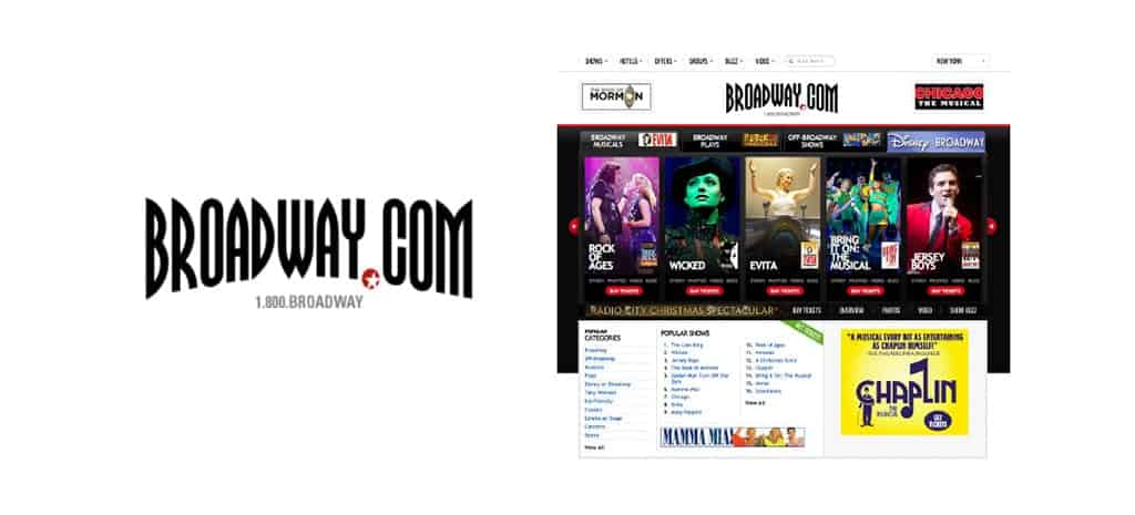 Paid search campaign for broadway.com